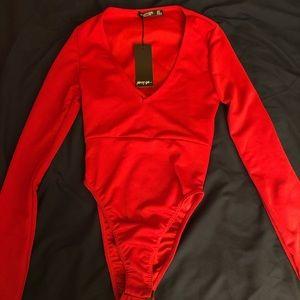 Nasty Gal red bodysuit